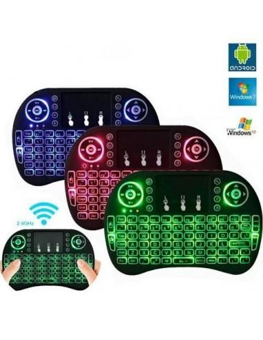 MINI TECLADO WIRELESS I8 COM LED